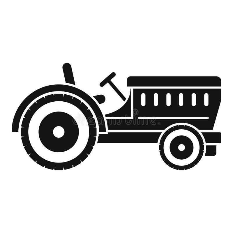Icona del trattore, stile semplice illustrazione vettoriale