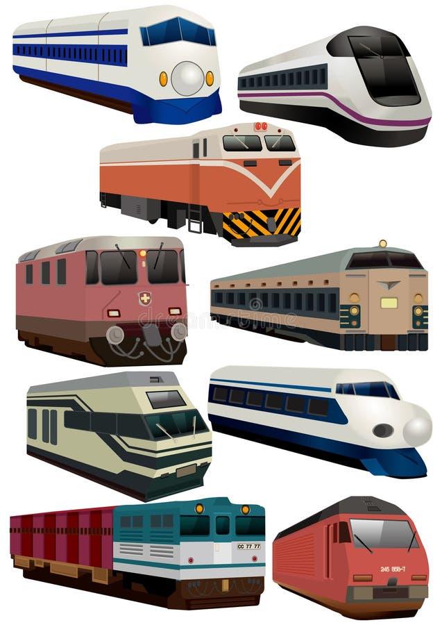 Icona del treno del fumetto immagini stock