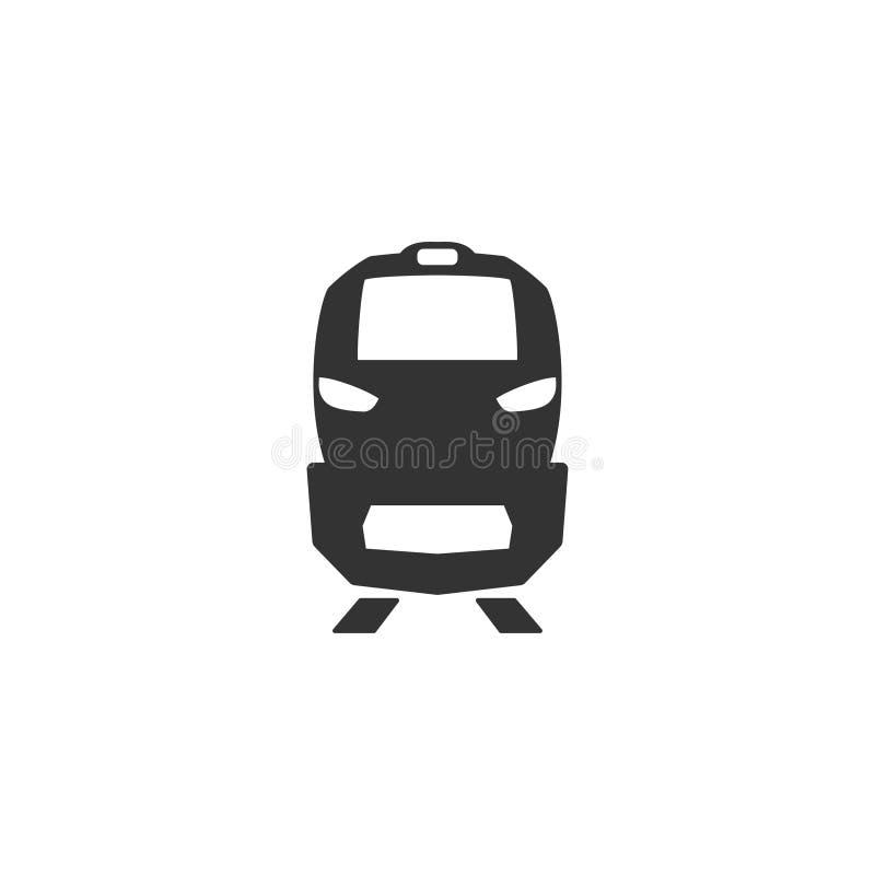 Icona del treno nella progettazione semplice Illustrazione di vettore royalty illustrazione gratis
