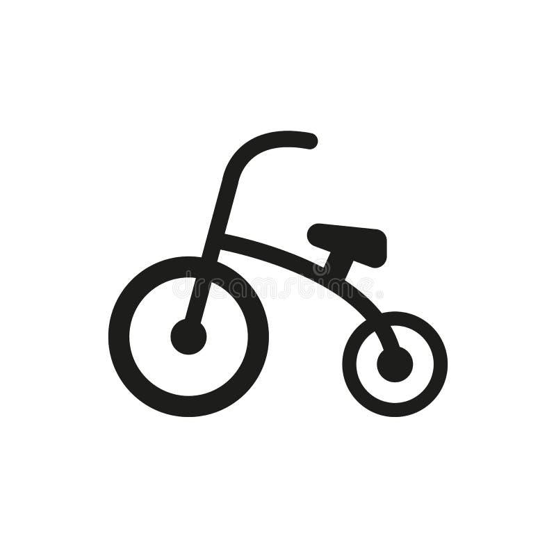 Icona del triciclo Progettazione Bici, simbolo della bicicletta web grafico ai app marchio oggetto piano immagine segno ENV Arte  illustrazione di stock