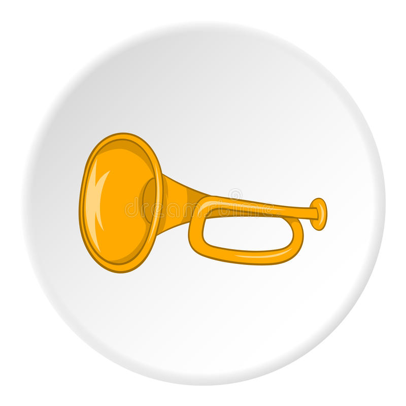 Icona del tubo di musica, stile del fumetto illustrazione vettoriale