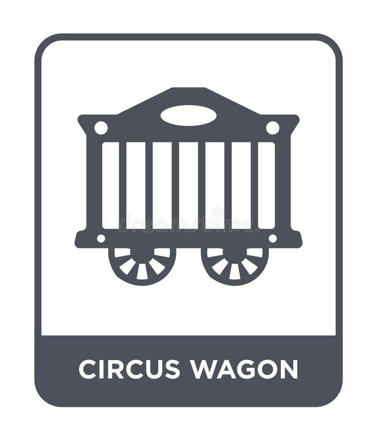icona del vagone di circo nello stile d'avanguardia di progettazione icona del vagone di circo isolata su fondo bianco icona di v illustrazione vettoriale