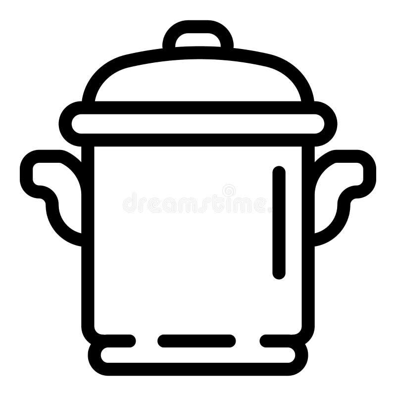 Icona del vaso del fornello, stile del profilo royalty illustrazione gratis