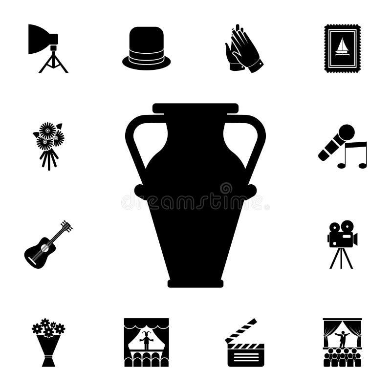 Icona del vaso Insieme dettagliato delle icone del teatro Progettazione grafica premio Una delle icone della raccolta per i siti  illustrazione vettoriale