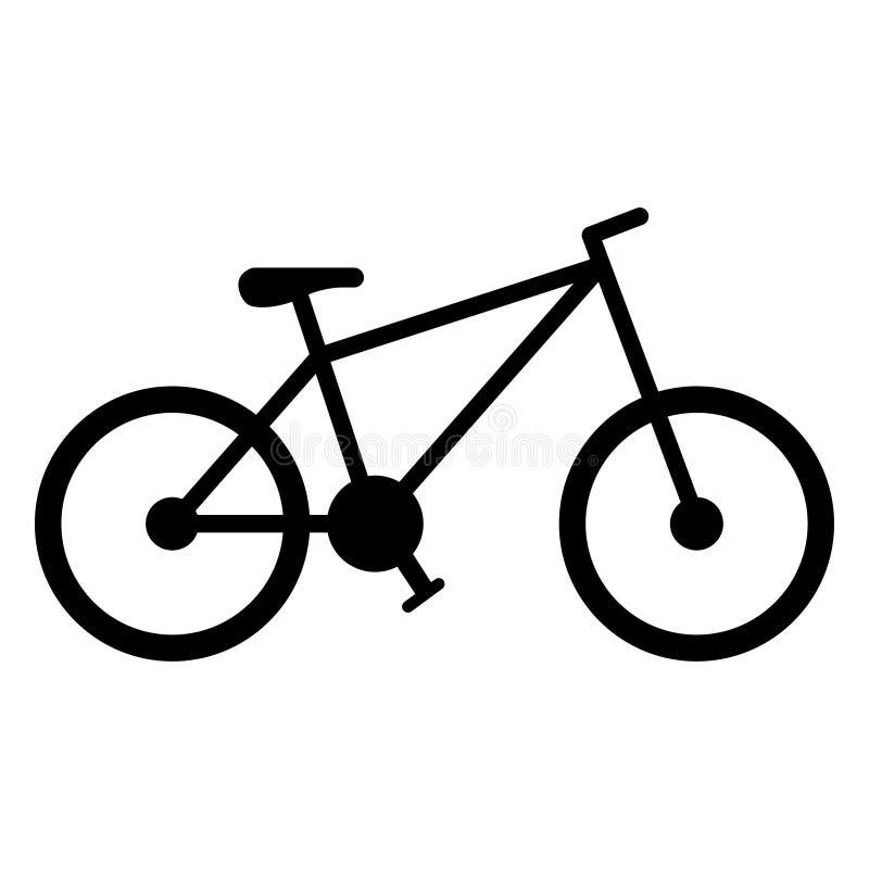 Icona del veicolo della bicicletta, bici ed attività di sport royalty illustrazione gratis