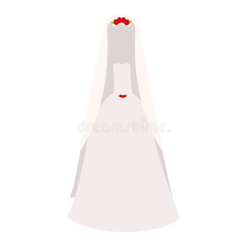 Icona del vestito dalla sposa illustrazione vettoriale