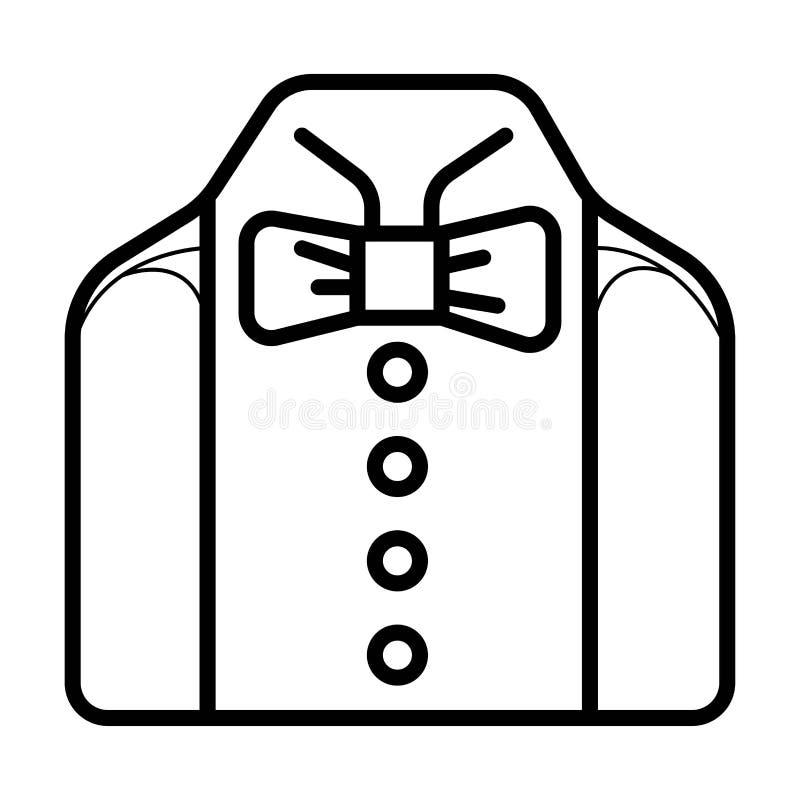 Icona del vestito di nozze, uomo d'affari illustrazione vettoriale