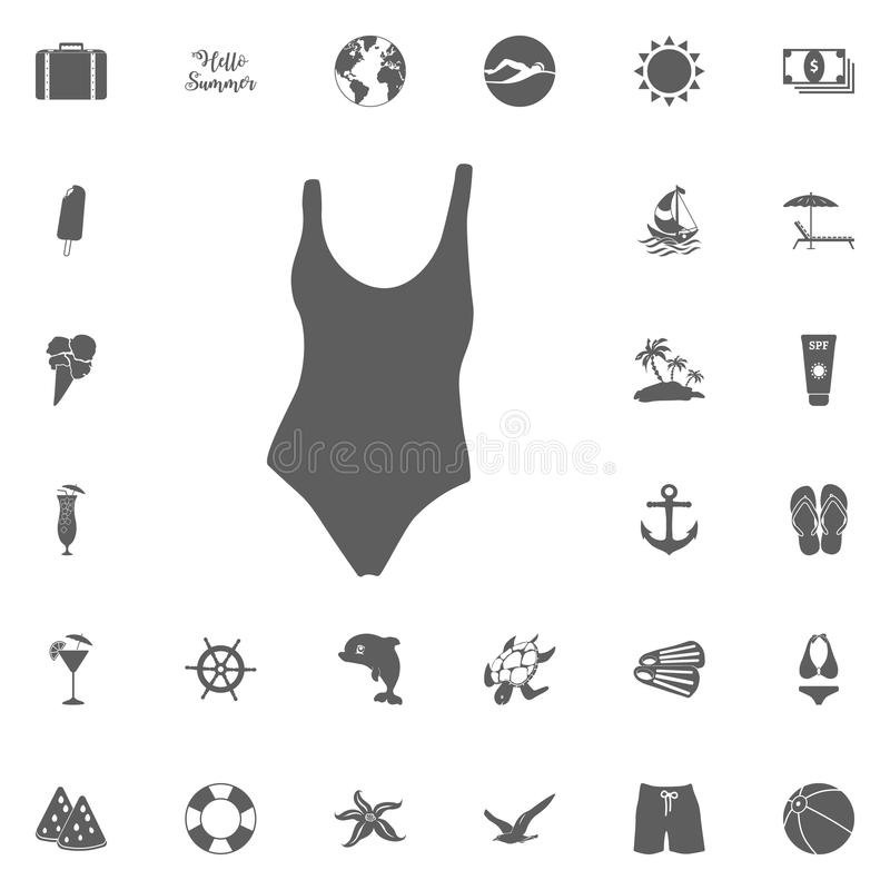 Icona del vestito di nuotata royalty illustrazione gratis
