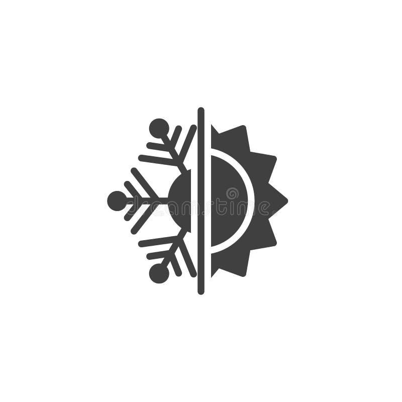 Icona del vettore termico e resistente al freddo royalty illustrazione gratis
