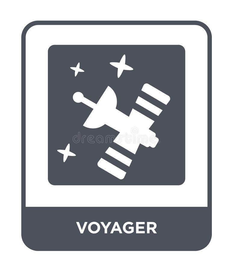 icona del viaggiatore nello stile d'avanguardia di progettazione icona del viaggiatore isolata su fondo bianco simbolo piano semp illustrazione vettoriale