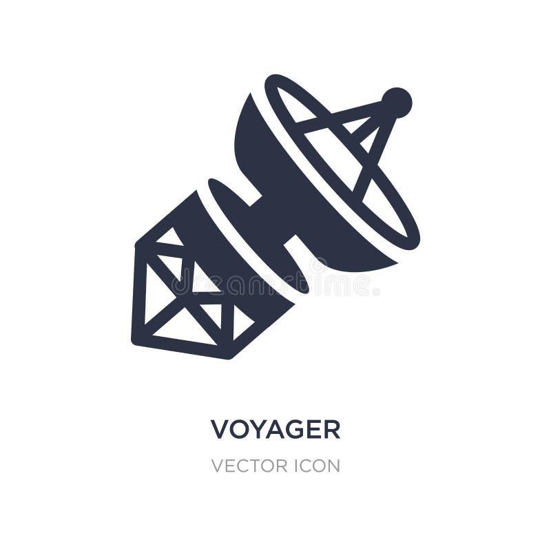 icona del viaggiatore su fondo bianco Illustrazione semplice dell'elemento dal concetto di astronomia illustrazione di stock