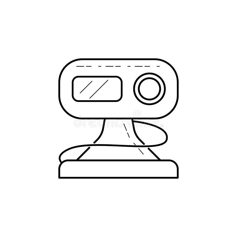 Icona del webcam I media firmano per i apps mobili di web e di concetto Linea sottile icona per progettazione del sito Web e svil illustrazione vettoriale