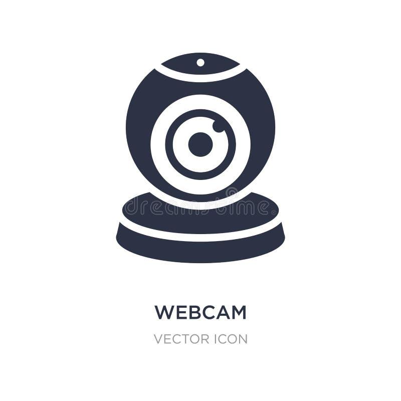 Icona del webcam su fondo bianco Illustrazione semplice dell'elemento dal concetto del influencer e di blogger illustrazione di stock