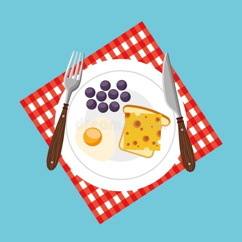 icona deliziosa e sana della prima colazione illustrazione vettoriale