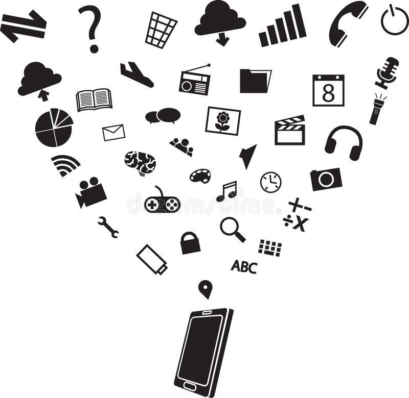Icona dell'IT illustrazione di stock