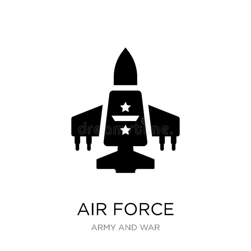 icona dell'aeronautica nello stile d'avanguardia di progettazione icona dell'aeronautica isolata su fondo bianco piano semplice e illustrazione di stock