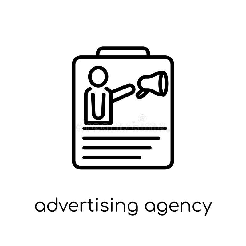 icona dell'agenzia di pubblicità Annuncio lineare piano moderno d'avanguardia di vettore royalty illustrazione gratis