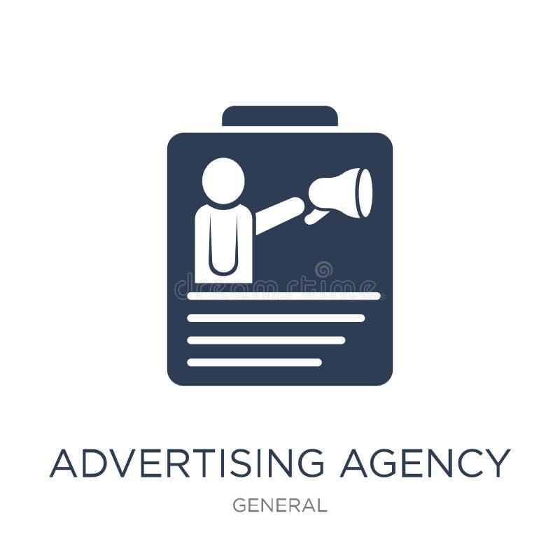 icona dell'agenzia di pubblicità Agenzia di pubblicità piana d'avanguardia di vettore i royalty illustrazione gratis