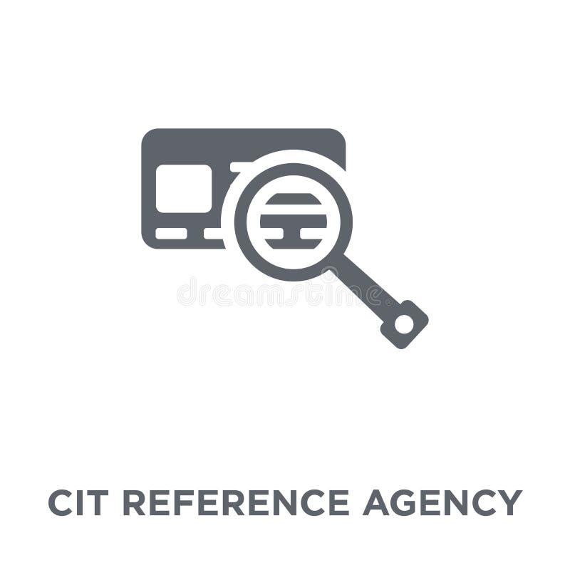 Icona dell'agenzia di riferimento di credito dal collec dell'agenzia di riferimento di credito illustrazione di stock
