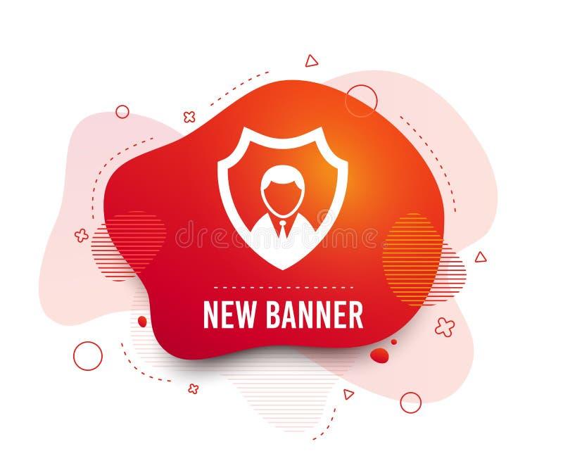 Icona dell'agenzia di sicurezza Simbolo di protezione dello schermo Vettore illustrazione di stock