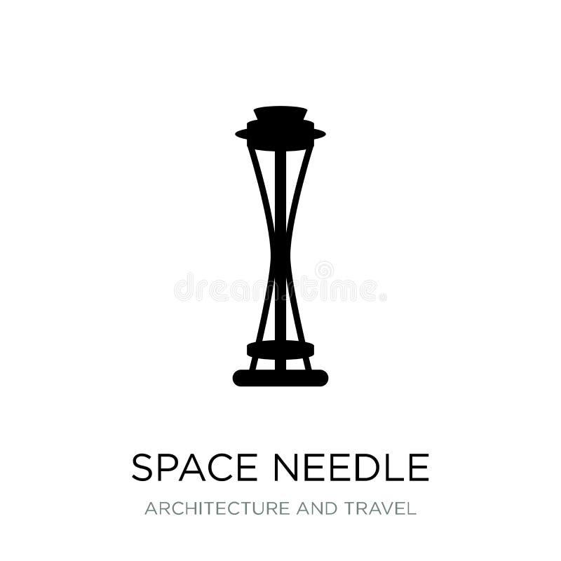 icona dell'ago dello spazio nello stile d'avanguardia di progettazione icona dell'ago dello spazio isolata su fondo bianco icona  illustrazione di stock