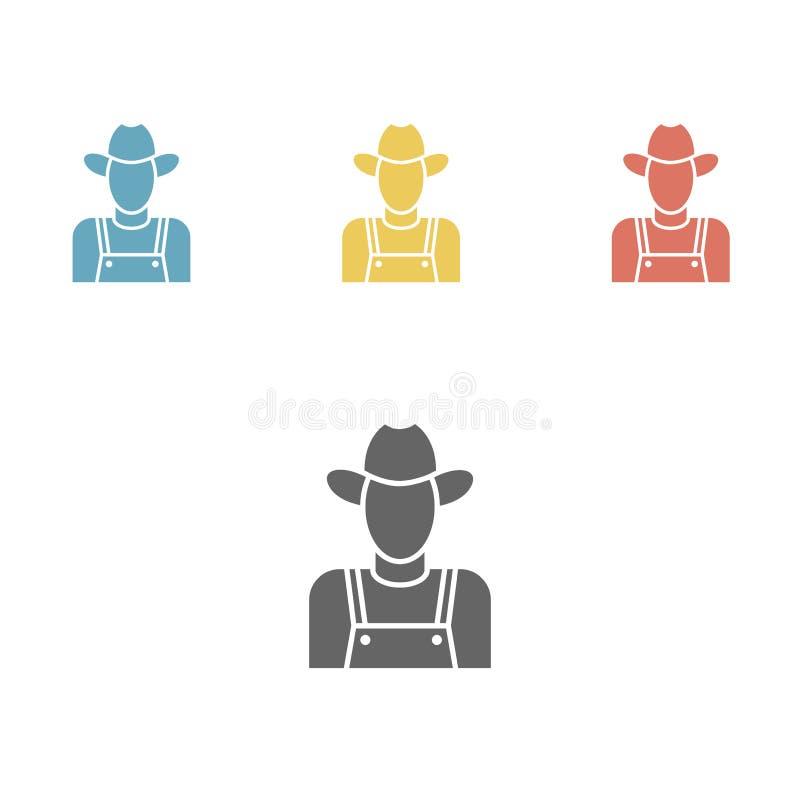 Icona dell'agricoltore royalty illustrazione gratis