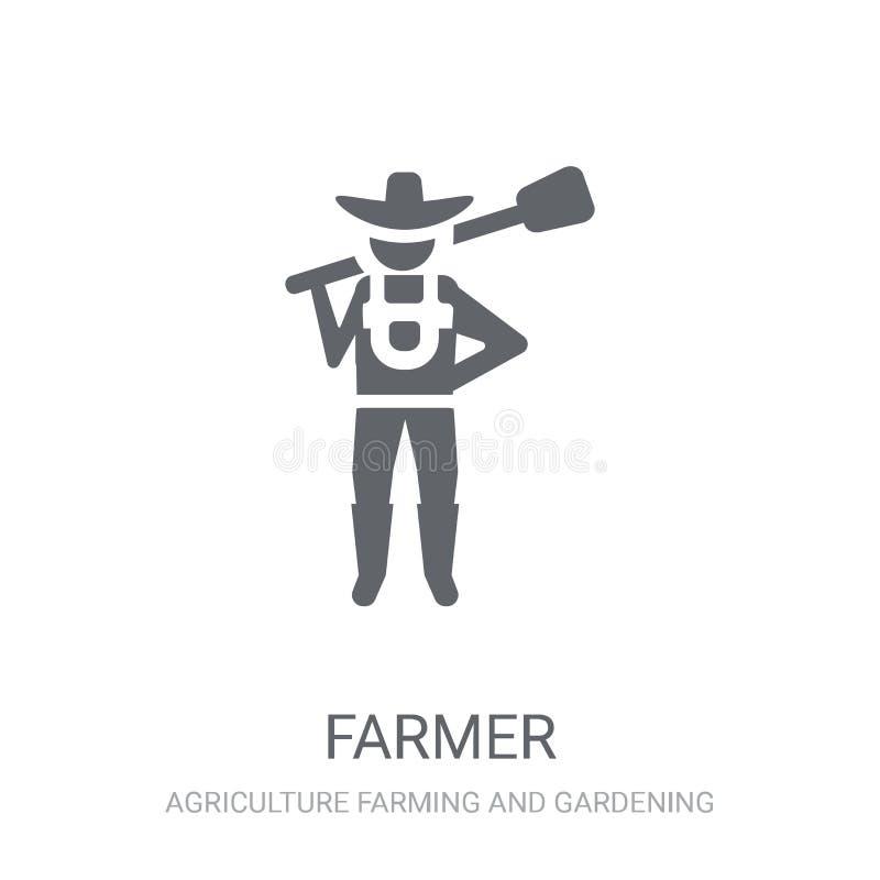 Icona dell'agricoltore  illustrazione di stock