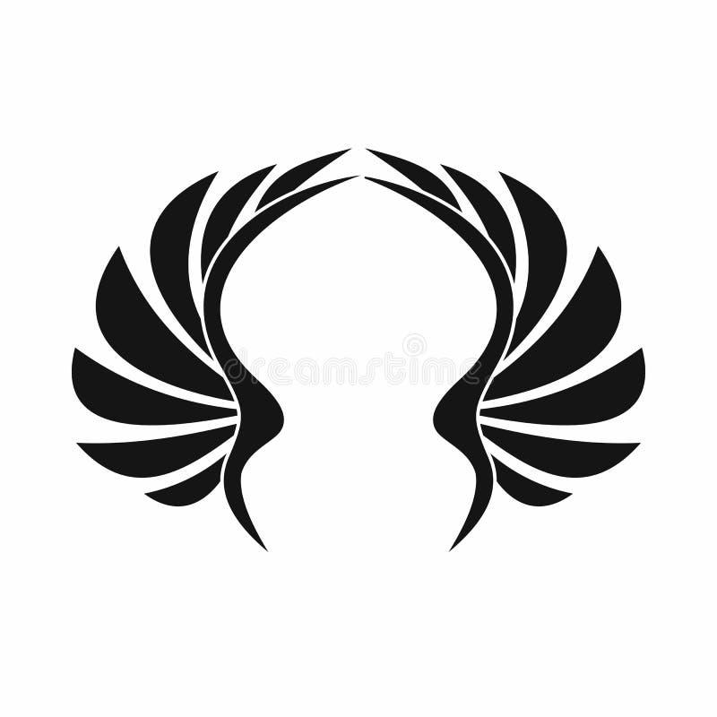 Icona dell'ala, stile semplice illustrazione vettoriale