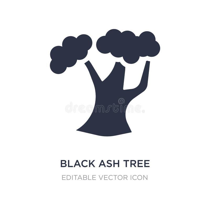 icona dell'albero di cenere nera su fondo bianco Illustrazione semplice dell'elemento dal concetto della natura illustrazione vettoriale