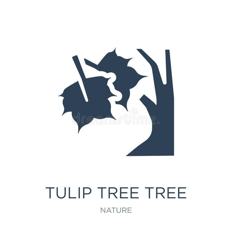 icona dell'albero dell'albero di tulipano nello stile d'avanguardia di progettazione icona dell'albero dell'albero di tulipano is illustrazione di stock