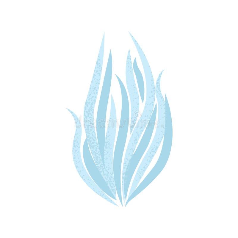 Icona dell'alga del fumetto nello stile piano moderno illustrazione vettoriale