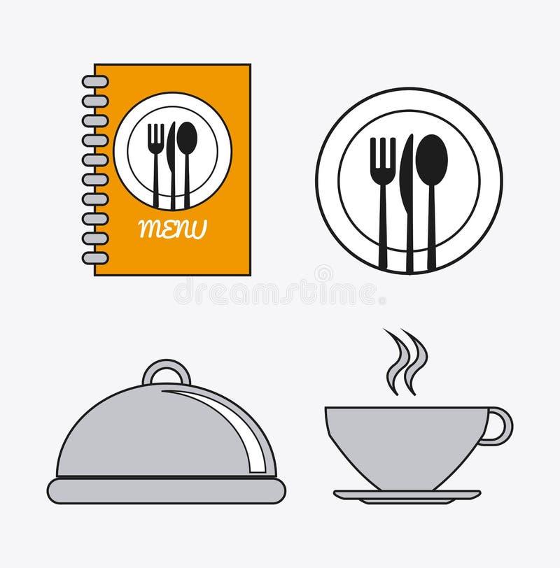 Icona dell'alimento del menu di servizio di approvvigionamento royalty illustrazione gratis