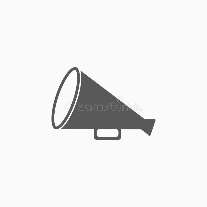Icona dell'altoparlante, megafono, annuncio, suono illustrazione di stock