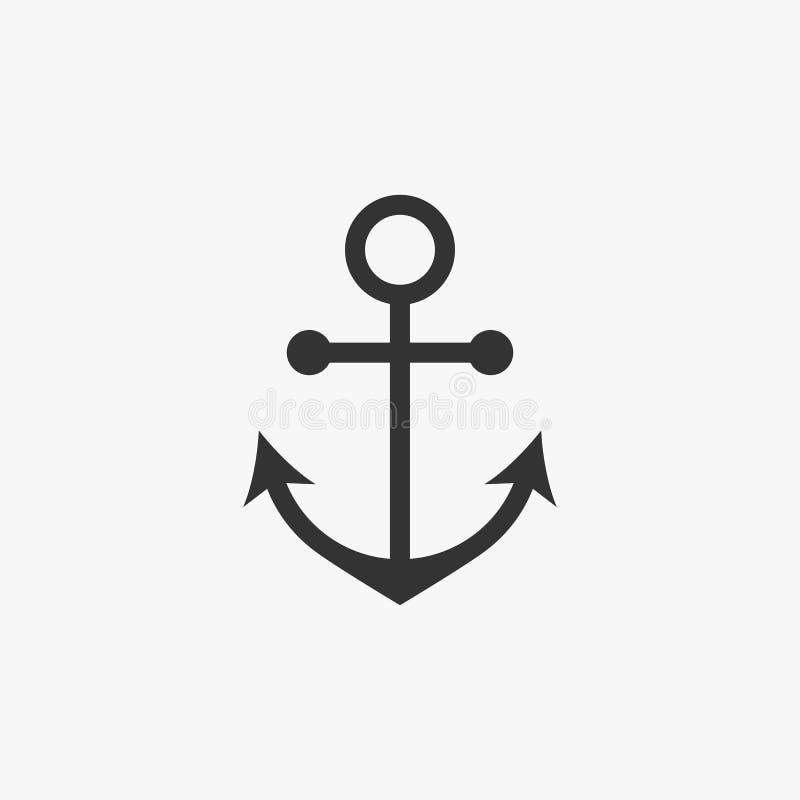 Icona dell'ancora, nave, barca, nave, mestiere, chiatta, arca royalty illustrazione gratis