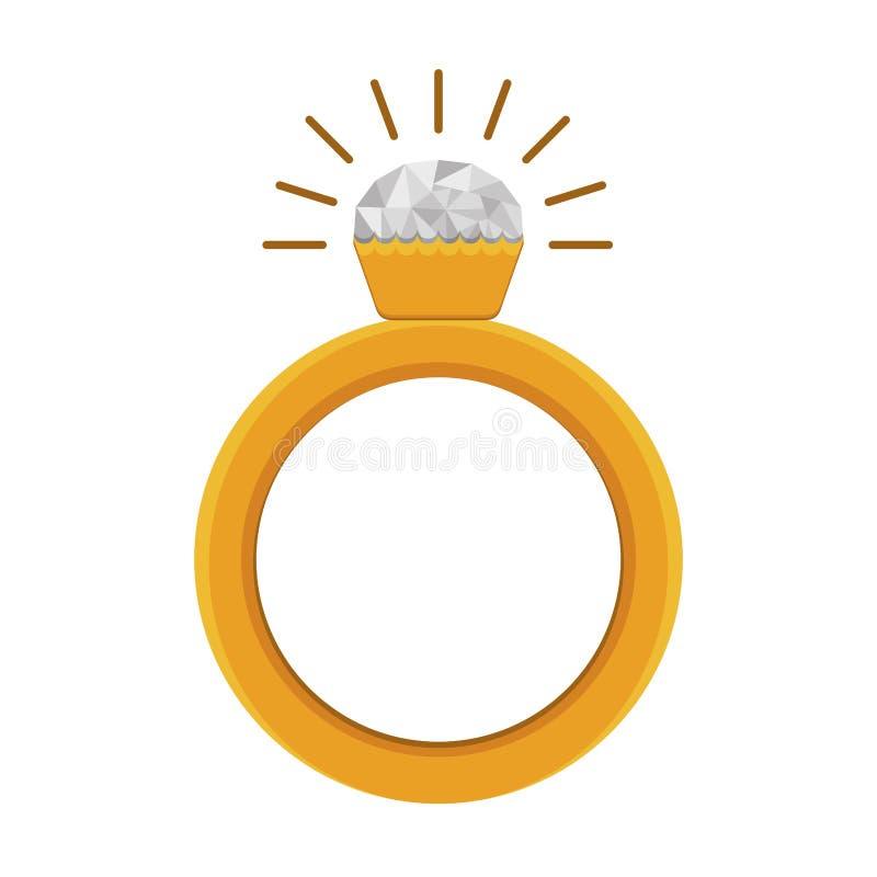 Icona dell'anello di diamante illustrazione di stock