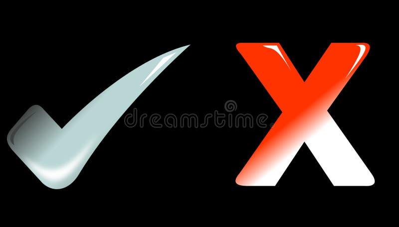 Download Icona Dell'annullamento E Fatto Illustrazione di Stock - Illustrazione di assegno, approvazione: 7305698