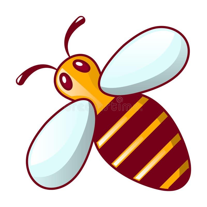Icona dell'ape, stile del fumetto illustrazione vettoriale
