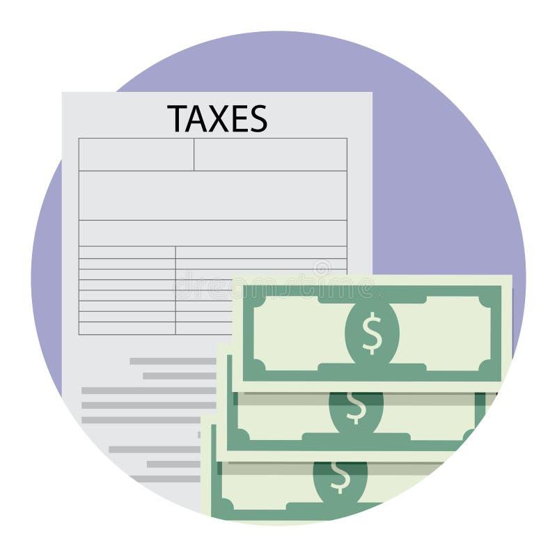 Icona dell'applicazione di tasse illustrazione vettoriale