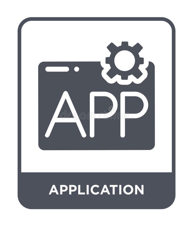 icona dell'applicazione nello stile d'avanguardia di progettazione icona dell'applicazione isolata su fondo bianco icona di vetto royalty illustrazione gratis