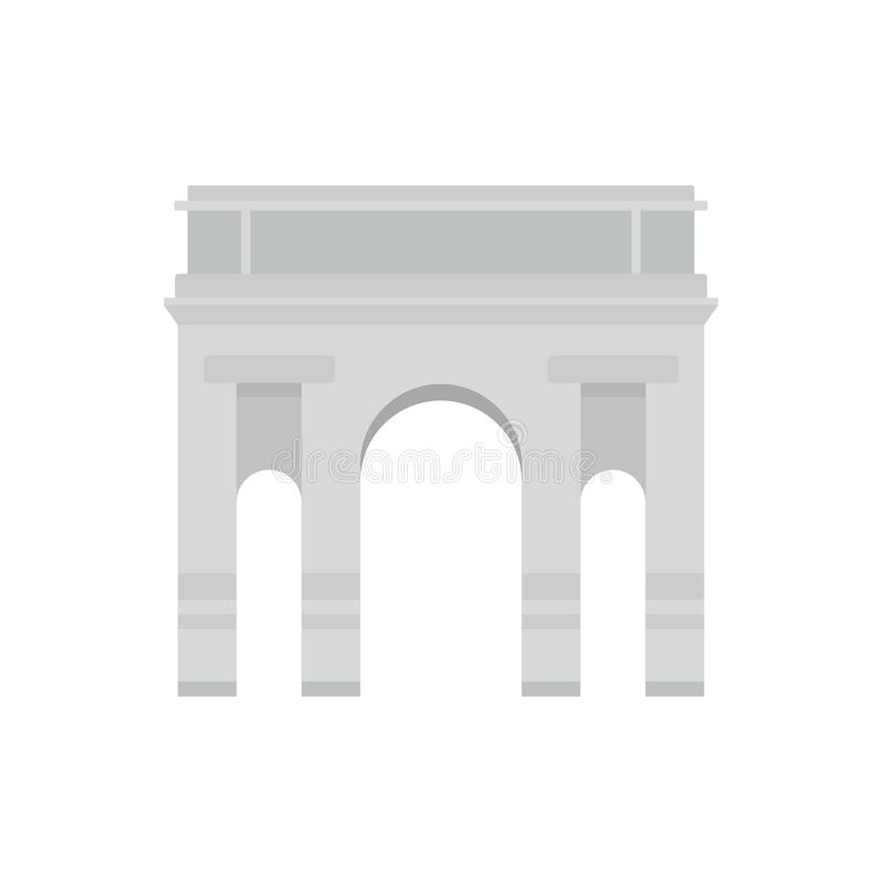 Icona dell'arco di Milano, stile piano illustrazione vettoriale