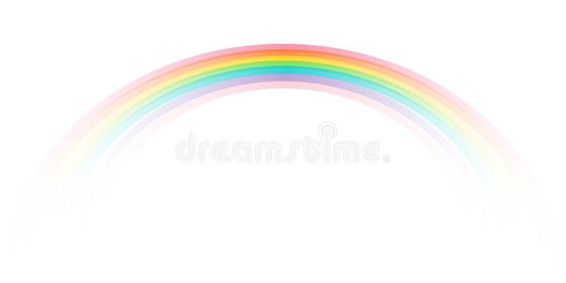 Icona dell'arcobaleno realistica Icona perfetta isolata sul vettore delle azione del fondo illustrazione di stock