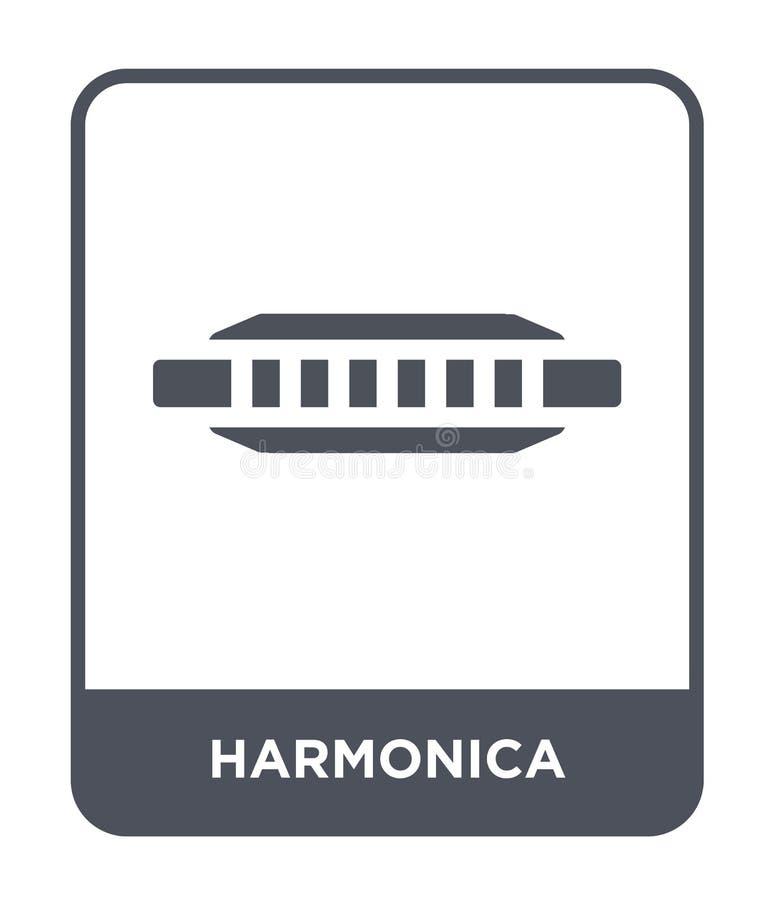 icona dell'armonica nello stile d'avanguardia di progettazione icona dell'armonica isolata su fondo bianco piano semplice e moder royalty illustrazione gratis
