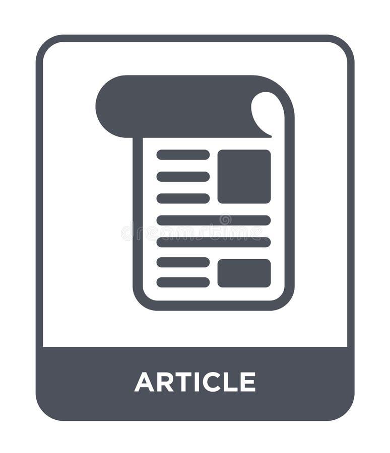 icona dell'articolo nello stile d'avanguardia di progettazione icona dell'articolo isolata su fondo bianco simbolo piano semplice illustrazione di stock