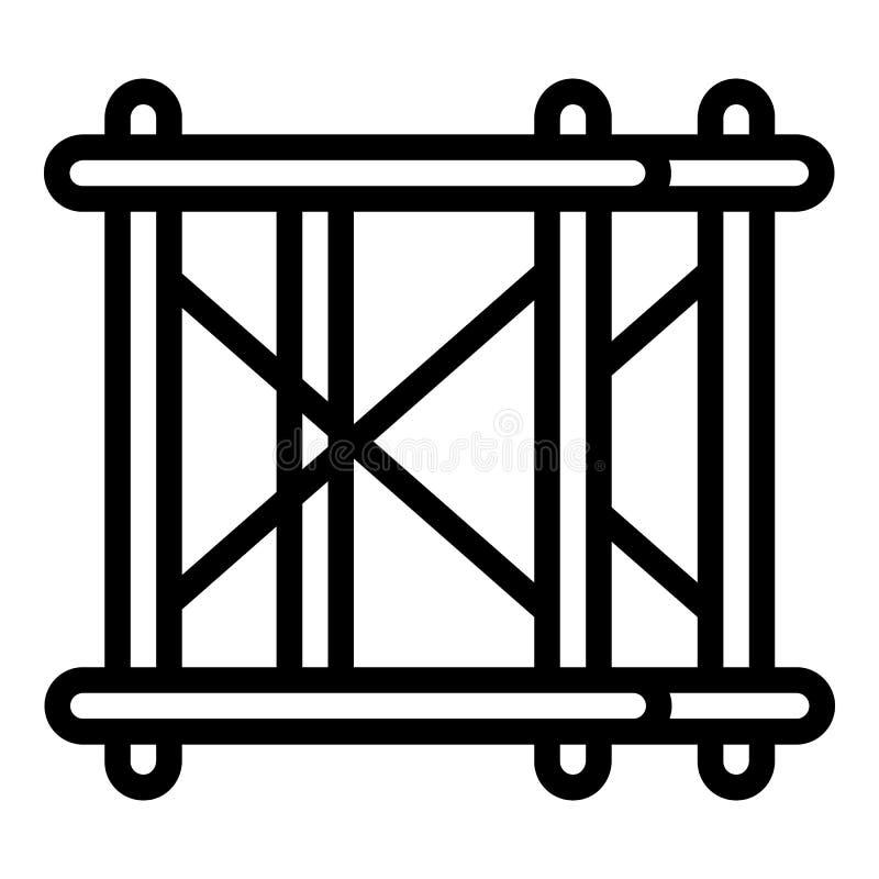 Icona dell'attrezzatura dell'armatura del metallo, stile del profilo illustrazione di stock