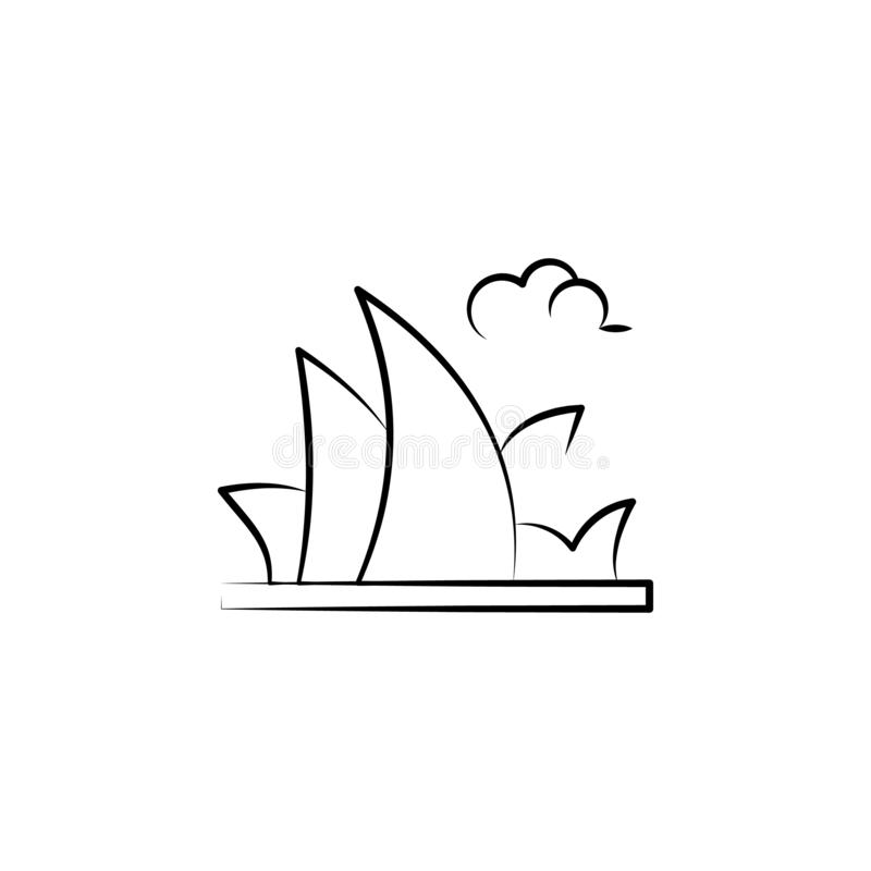 Icona dell'Australia Elemento dell'icona antinvecchiamento per i apps mobili di web e di concetto L'icona dell'Australia di stile illustrazione di stock