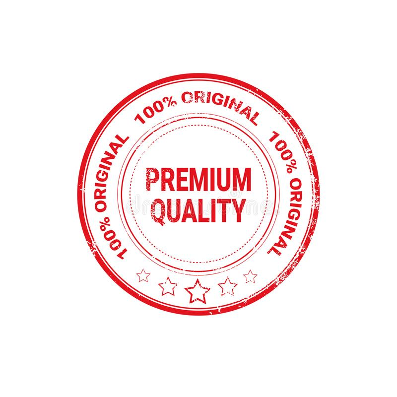 Icona dell'autoadesivo isolata etichetta rossa premio di lerciume del sigillo di qualità illustrazione vettoriale