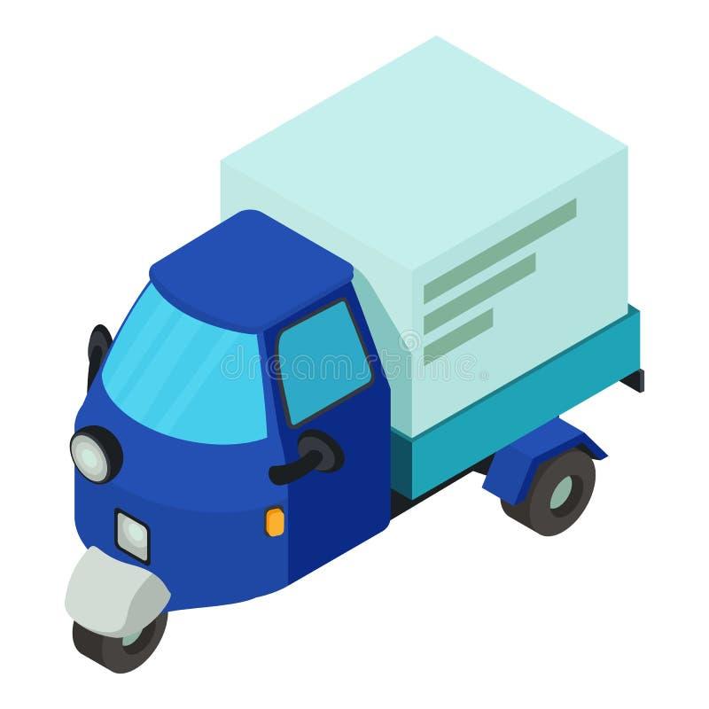 Icona dell'automobile di consegna, stile isometrico royalty illustrazione gratis
