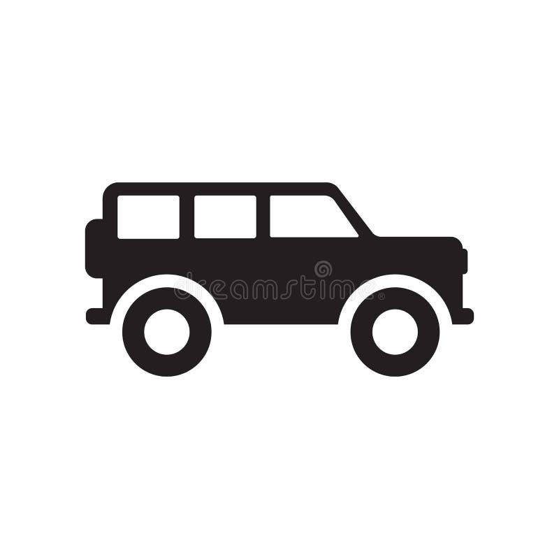 icona dell'automobile di lux Concetto d'avanguardia di logo dell'automobile di lux su fondo bianco franco royalty illustrazione gratis