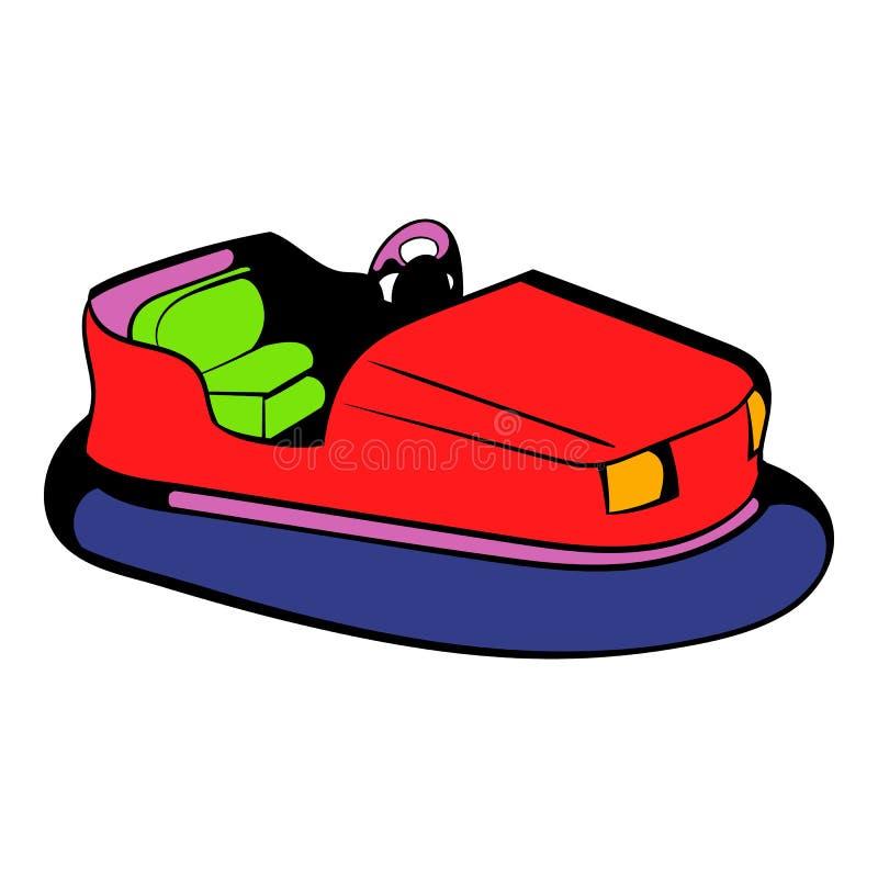 Icona dell'automobile di paraurti, fumetto dell'icona illustrazione vettoriale
