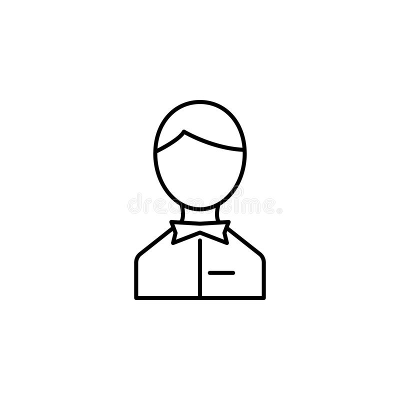 icona dell'avatar del cameriere Elemento dell'icona semplice per i siti Web, web design, cellulare app, grafici di informazioni L illustrazione di stock
